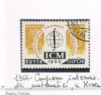 URSS -   SG 3244    - 1966 INT. MATHEMATICS CONGRESS - USED°  - RIF. CP - 1923-1991 USSR