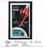 URSS -   SG 3250    - 1966 LANDING OF LUNA 9 ON MOON (STAMP OF 1963 OVERPRINTED) - USED°  - RIF. CP - 1923-1991 USSR