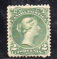 XP2295 - CANADA' 1868 , 2 Cent Yvert N. 20 Senza Gomma (2380A) - 1851-1902 Regno Di Victoria