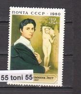 1980 Art -Painting Artist Jean Ingres Mi -4987 1v.- MNH USSR - 1923-1991 USSR