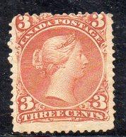 XP2328 - CANADA' 1868 , 3 Cent Yvert N. 21 Senza Gomma (2380A) - 1851-1902 Regno Di Victoria