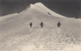 74 CHAMONIX MONT BLANC ALPINISTES AUX BOSSES DU DROMADAIRE SOMMET DU MONT BLANC  EDITEUR FRANCO SUISSE BF 1813 - Chamonix-Mont-Blanc