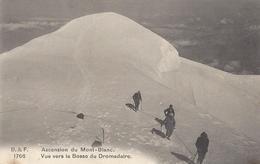 74 CHAMONIX MONT BLANC ALPINISTES VERS LES  BOSSES DU DROMADAIRE SOMMET DU MONT BLANC  EDITEUR FRANCO SUISSE BF 1813 - Chamonix-Mont-Blanc