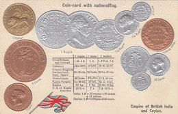 Coins Of The Empire Of British India - Embossed Card       (A-146-190612) - Thailand