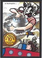 CPM Timbre Monnaie Par Jihel Tirage Limité En 30 Exemplaires Numérotés Signés Humour - Munten (afbeeldingen)