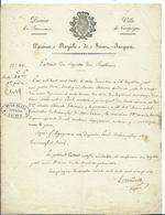 EXTRAIT DU REGISTRE DES NAISSANCES - Ville De COMPIEGNE 1826 - Geburt & Taufe