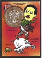 CPM Timbre Monnaie Par Jihel Tirage Limité En 30 Exemplaires Numérotés Signés Siam éléphant Orgue De Barbarie - Munten (afbeeldingen)