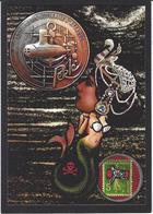 CPM Timbre Monnaie Par Jihel Tirage Limité En 30 Exemplaires Numérotés Signés Sirène Mermaid - Munten (afbeeldingen)