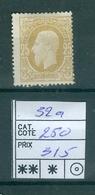 32a X Côte 250€ - 1869-1883 Leopold II
