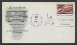 Expo '58 Brussel USA Pavilion  Stempel 4 Sep 1958 - 1958 – Bruxelles (Belgique)