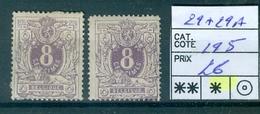 29+29a X Côte 195€ - 1869-1883 Leopold II