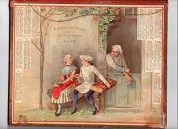 Calendrier 1895,sympathique Et Beau Chromo  Très Frais, Petit Boulanger, Amourette. - Calendari