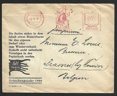 Lettre Affranchissement Mécanique 0.05 Deutsche Reichspost + Flamme Lieoicin ? De Hamburg Norderstedt > Frasnes (lot 816 - Briefe U. Dokumente