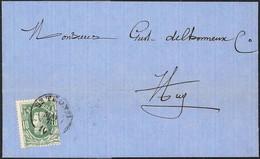 EEN VAN DE WEINIG GEKENDE BRIEVEN Met DCb Van St TROND 13 Mai 73 Aankomst HUY 14 Mai 73    Coba 50 - 1869-1883 Leopold II