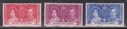 BASUTOLAND Scott # 15-17 MH - KGVI Coronation - 1933-1964 Colonia Britannica