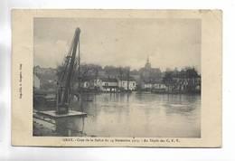 70 - GRAY - Crue De La Saône Du 14 Novembre 1913, Au Dépôt Des C.F.V. - Gray