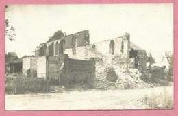 80 - FOUQUESCOURT - Carte  Photo - Kirche - Eglise En Ruine - Guerre 14/18 - Autres Communes