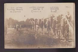 CPA Serbie Serbia Non Circulé Militaria Crimes Atrocités Autriche Hongrie Carte Photo RPPC - Serbia