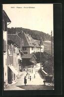 AK Peseux, Rue Et Chateau - NE Neuchatel