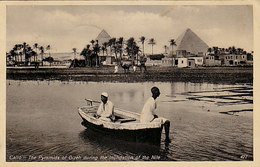 Cairo - Les Pyramides Pendent L'inondation Du Nile - 1930 - Timbre!     (A-146-190612) - Schauspieler