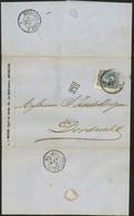 Brief Met N°31 DC NORI II (slijtage)  Coba 50 - 1869-1883 Leopold II