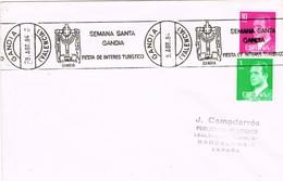 34897. Carta GANDIA (Valencia) 1984. Rodillo Especial SEMANA SANTA - 1931-Hoy: 2ª República - ... Juan Carlos I