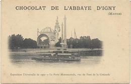 """CPA - Publicité Du """"CHOCOLAT DE L'ABBAYE D'IGNY"""" (Marne) - Exposition Universelle De 1900 - PARIS - Otros Municipios"""