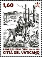 Vatican 1551 Père Eusebio Chini, Cheval Désert, Cactus - Cactus