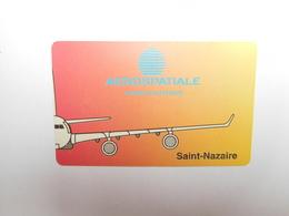 Télécarte Papier , Aérospatiale , Saint Nazaire - France