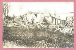 80 - HALLU - Carte  Photo - Ruines - Guerre 14/18 - Autres Communes