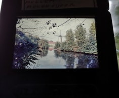 Mullem Molenvijver Windmolen Dia In Frame Slide Mill Moulin - Diapositivas