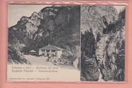 OUDE POSTKAART - ZWITSERLAND - SCHWEIZ -     RONGELLEN - GASTHAUS ZUR POST - GR Graubünden