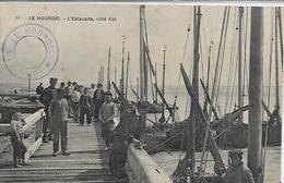 80, Somme, LE HOURDEL, L'Estacade, Coté Est, Scan Recto Verso - Le Hourdel
