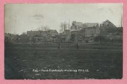 80 - FAY- Carte  Photo - Village En Ruine - Guerre 14/18 - Autres Communes