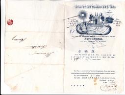 """76 - ROUEN - FRANC-MACONNERIE - Loge De ROUEN """"ARTS REUNIS""""  Aux Rits FRANCAIS Et ECOSSAIS - Courrier De 1858 - RARE - - 1849-1876: Période Classique"""