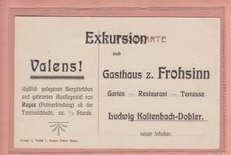 OUDE  POSTKAART - ZWITSERLAND - SCHWEIZ -    VALENS REKLAME GASTHAUS Z. FROHSINN - SG St. Gallen