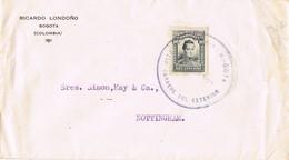 34902. Carta  BOGOTA (Colombia) 1922 A England - Colombia