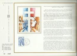 N° 183 B DU CATALOGUE CEF .  HOMMAGE AU GENERAL DE GAULLE . 09 NOVEMBRE 1971 . LILLE - FDC
