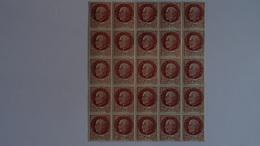 FRANCE 1941 - Effigie Du Maréchal Pétain - BLOC 25 TIMBRES 1f50 Brun Rouge Type Bersier - MNH ** Neufs+gomme Sans Charni - Unused Stamps