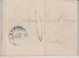 BELGIUM USED COVER 19/01/1839 TERMONDE SAINT NICOLAS CACHETS - 1830-1849 (Independent Belgium)