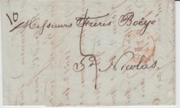 BELGIUM USED COVER 02/12/1841 LOUVAIN SAINT NICOLAS CACHET ROUGE - 1830-1849 (Belgique Indépendante)