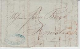 BELGIUM USED COVER 31/12/1841 LOUVAIN SAINT NICOLAS CACHETS REMY FRERES - 1830-1849 (Independent Belgium)