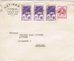34903. Carta  Aerea BUENOS AIRES (Argentina) 1941. Stamp Primer Correo ANTARTICO - Argentina