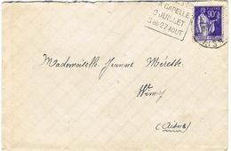 DAGUIN DE LA CAPELLE COURSES JUILLET AOUT 39 SUR LETTRE - Marcophilie (Lettres)