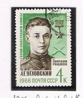 URSS -   SG 3261    - 1966 A. UGLOVSKY, WAR HERO  -  USED°  - RIF. CP - 1923-1991 USSR