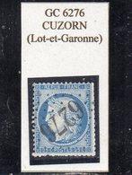 Lot-et-Garonne - N° 60C Obl GC 6276 Cuzorn - 1871-1875 Cérès