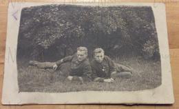 Photographie De Frans Demol De L'Union St-Gilloise, Au Camp De Beverloo En 1913 En Compagnie De Pierre Luyckx - Guerra, Militares
