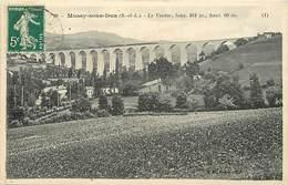 Dpts Div.-ref-AP303- Saône Et Loire - Mussy Sous Dun - Le Viaduc - Viaducs - Ligne De Chemin De Fer - - Frankrijk