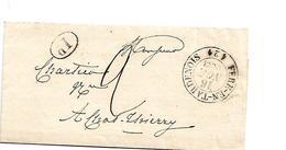 Fp006 / FRANKREICH - Fere-En-Tardenois 1833 Nach Chateau Thierry - Poststempel (Briefe)