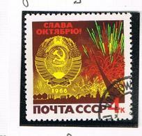 URSS -   SG 3331   - 1966  OCTOBER REVOLUTION ANNIVERSARY -  USED°  - RIF. CP - 1923-1991 USSR